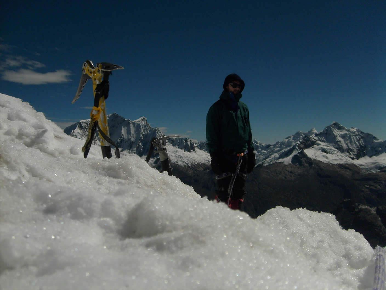ice climbing andes mountain huaraz peru 35